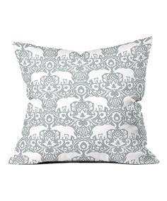 Jacqueline Maldonado Elephant Damask Paloma Fleece Throw Pillow by DENY Designs #zulily #zulilyfinds