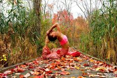 Yoga In Autumn by Robert Sturman Chatham, New Jersey Yulady Saluti Loved and pinned by www.downdogboutique.com #Yoga