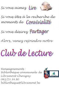 Escapages: Club de lecture adulte à la Bibliothèque communale de Libramont-Chevigny