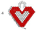 Continuing the seed-bead heart (courtesy of Rings & Things)