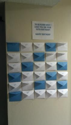 For A Birthday Or Special Day Label X Amount Of Envelopes With Number And Insert Note Message On It Did This