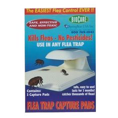 FLEA TRAP PADS 3 PK by Springstar. $8.99. Made with harmless sticky glue. Non Chemical approach to Flea Control. Capture pads last for three months or until filled with up to 10,000 fleas. CSA listed. SpringStar S103 Flea Trap Capture Pads are used in the The Springstar Electric Flea Trap. Capture Pads will last for up to 3 months or until filled with up to 10,000 fleas. This package contains 3 capture pads which are super sticky and should be replaced every three months or s...