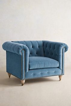 Lyre Chesterfield Armchair - anthropologie.com