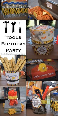Construction tools 4th birthday party ideas!