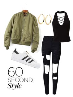 """Drake's Concert"" by raja-nee-lyric on Polyvore featuring WithChic, Miss Selfridge, adidas Originals, DRAKE, views and 60secondstyle"