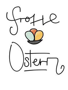 Frohe Ostern! Oster Grußkarte zum Selber Ausdrucken #Ostern #Osterkarte #OsternGrußkarte  Finde viele weitere Oster Grußkarten von mir auf http://www.theguybehindtheletters.de/blog/osterkarten-kostenloser-download