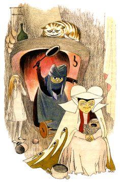 "Tove Jansson - Illustrations for ""Alice in Wonderland"" 26"