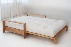 Cuba is a high quality futon sofa bed. The solid hardwood frame comes with a 7 layer futon mattress. Futon Diy, Cama Ikea, Futon Sofa Bed, Futon Bedroom, Sleeper Sofas, Sofa Bed Wood, Bed Ikea, Sofa Design, Pallet Furniture