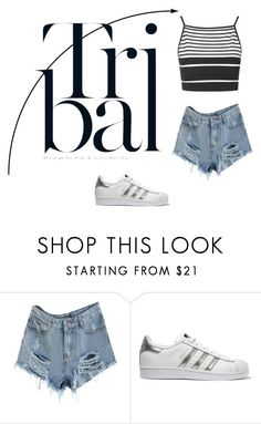 """""""Tri Bai"""" by lilyismyname-13 ❤ liked on Polyvore featuring adidas Originals, Topshop and fabulous"""