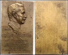 Franz Lehár (1870-1948), bronze medal (1909), by Hans Schaeffer (1875-1933).