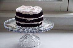Chocolate cake, three iced tiers, Maureen Abood