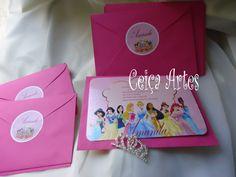 Convite simples princesas