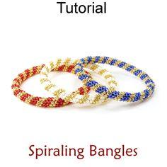 Even Count Tubular Peyote Stitch Beaded Bangle Bracelets Beading Tutorial Pattern Instructions