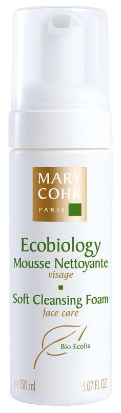 MOUSSE ECOBIOLOGY (150ml)  Der besonders sanfte, aber gründliche Reinigungsschaum erhält den natürlichen Säureschutzmantel der Haut. Er reagiert nicht alkalisch, besteht zu 100 % aus natürlichen Wirkstoffen, ist mit einem Antikalk-Wirkstoff angereichert. Die Haut fühlt sich frisch und angenehm an. http://www.best-kosmetik.de/marken/mary-cohr/reinigung-peeling/mousse-ecobiology.html