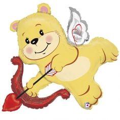 ΜΠΑΛΟΝΙ FOIL 91cm SUPER SHAPE ΑΡΚΟΥΔΑΚΙ ΕΡΩΤΑΣ ΜΕ ΤΟΞΟ - ΚΩΔ.:85850-BB Cupid Love, Balloon Stands, Love Bear, Valentines Day Party, Foil Balloons, Balloon Decorations, Winnie The Pooh, Pikachu, Disney Characters