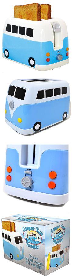 Mirad que tostadora más original! - Such a cool Toaster! A Volkswagen van Toaster!  #Regalos #Frikis #Tostadora #Volkswagen #Toaster #Geek #Gifts #Hippie