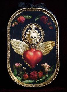 VintageStyle Gothic Memento Mori Shadowbox Shrine for by HolyCandy
