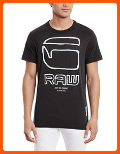 2a1b51d758 G-Star Raw Men's Ocat R T Short-Sleeve T-Shirt: Drawing on street-art  influences, this fresh t-shirt features large contrast lettering with a  hand-drawn ...