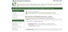 Microscopy & Imaging Resources es una página web del Southwest Environmental Health Sciences Center que contiene diversos recursos para el aprendizaje.