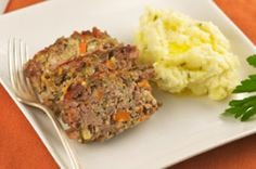 Lean Turkey Meatloaf with Whole Wheat Breadcrumbs and Mashed Potatoes