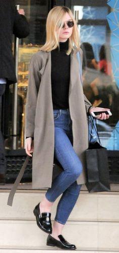 aa73f2e9ba fall outfit idea Lily Collins Casual