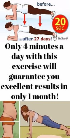 Only 4 minutes a day with this exercise will guarantee you excellent results in only 1 month!