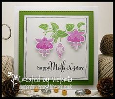 Vixx Handmade Cards: CLEARLY BESOTTED ~ HAPPY MOTHERS DAY....