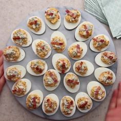 Cobb Salad Deviled Eggs Recipe by Tasty Cake Flan, Cake Mug, Egg Recipes, Low Carb Recipes, Cooking Recipes, Dessert Recipes, Omelettes, Good Food, Yummy Food