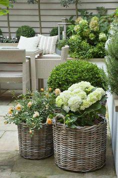 décorer son jardin idée fleurs printemps canapé de jardin