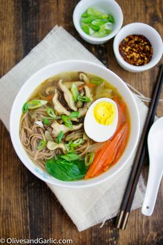 Soba Noodles In Shiitake-Shoyu Broth With Spring Vegetables Recipe ...