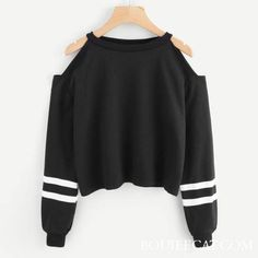 Women Off Shoulder Long Sleeve Sweatshirt Pullover Casual Comfort Solid Color Ropa Mujer Tops… - teen fashion Teen Fashion Outfits, Mode Outfits, Outfits For Teens, Girl Fashion, Girl Outfits, Clothes For Tweens, Cool Clothes, Womens Fashion, Clothes 2019