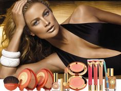 """The face of Estee Lauder and Fendi, Sports Illustrated supermodel and 1998 """"Model of the Year"""" Carolyn Murphy sex tape rumors kept the whole world agitated for over a decade. Carolyn Murphy, Bronze Skin, Bronze Makeup, Nude Makeup, Nails Bar, How To Apply Bronzer, Applying Bronzer, Estee Lauder Bronze Goddess, Gisele Bündchen"""