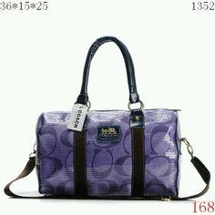Purple sequin coach handbag