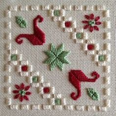 A Hardanger Stitch-Along by Ilke Cochrane - gallery of projects Hardanger Embroidery, Ribbon Embroidery, Cross Stitch Embroidery, Cross Stitch Patterns, Needlepoint Stitches, Needlework, Hand Embroidery Designs, Embroidery Patterns, Palacio Bargello
