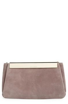 Jimmy Choo 'CAYLIN' SUEDE CLUTCH @Nordstrom Carrying a clutch always seems to look sophisticated #21stepsstylecourse