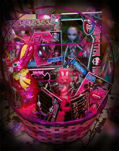 Monster High themed Easter Basket by @Michelle Waffle :)