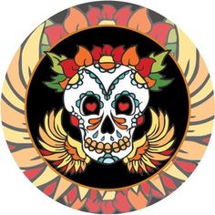 Thirstystone Occasions Drink Coasters, Skull, Multicolor