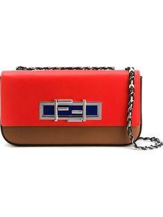 FENDI Medium '3Baguette' Crossbody Bag. #fendi #bags #shoulder bags #hand bags #leather #crossbody