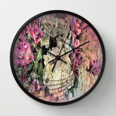 Painterly Spring Splendor Abstract Wall Clocks by Judy Palkimas