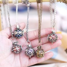 Would love one of these. Maternity angel caller pendant Pregnancy necklace Harmony ball Ethnic box Indian silver gold chime Sound wishing pendant on Etsy, $18.00