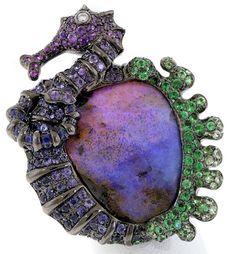 Jewelry:  opal seahorse ring by Lydia Courteille