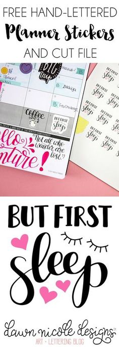 But First Sleep Free Planner Stickers Cut File