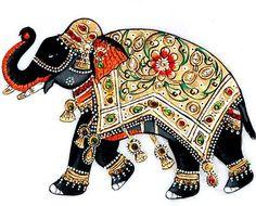 "Пост для отчетов по второму дню ТН ""Индия"" Elephant Design, Elephant Love, Indian Elephant Art, Marble Painting, Fabric Painting, Elephant Illustration, Pintura Country, Animal Drawings, Animal Paintings"