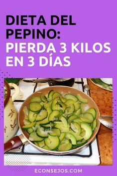 Dieta del pepino Healthy Menu, Healthy Recipes, Health Diet, Weight Loss Tips, Cucumber, Lunch, Vegetables, Ethnic Recipes, Belleza Natural