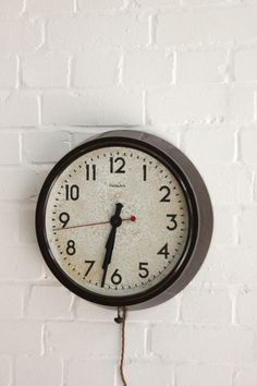Vintage+Industrial+1940s+Bakelite+Factory+Wall+Clock
