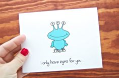Funny Love Card - I Only Have Eyes For You