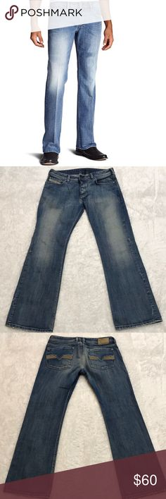 49e118df Diesel Zatiny Slim Micro Bootcut Jeans 100% cotton with button fly closure,  belt loops