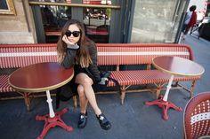 Sonia Rykiel coat, Alexander Wang chenille sweater, vintage belt, Forever 21 skirt, Balenciaga shoes, Proenza Schouler chain wallet, Céline sunglasses