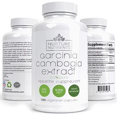Nurture Nutrients - Garcinia Cambogia - Weight Loss Supplements - Appetite Suppressant - Herbal Fat Burner - Lose Stubborn Belly Fat Without Trying