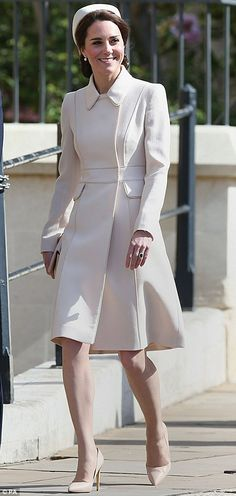 """Do it like the Duchess in a cream coloured coat this season  Click """"Visit"""" to buy #DailyMail"""